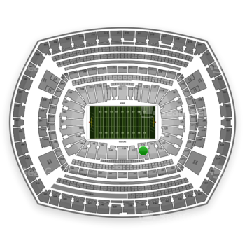 NFL at MetLife Stadium Section 135 View