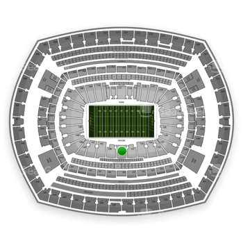 NFL at MetLife Stadium Section 139 View