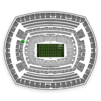NFL at MetLife Stadium Section 204 View