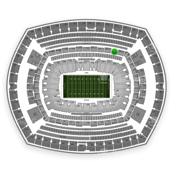 NFL at MetLife Stadium Section 218 View