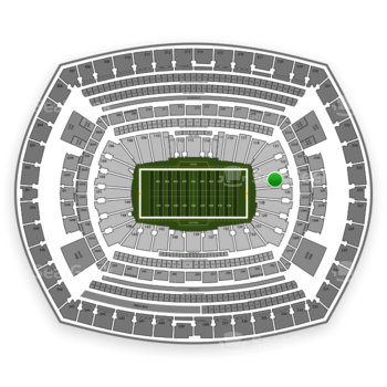 NFL at MetLife Stadium Section 124 View