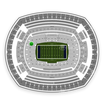 New York Giants at MetLife Stadium Section 104 View