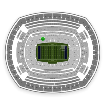 New York Giants at MetLife Stadium Section 110 View