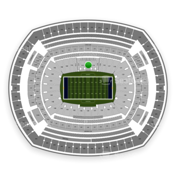 New York Giants at MetLife Stadium Section 113 View