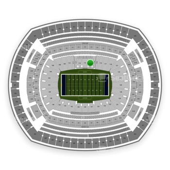 New York Giants at MetLife Stadium Section 114 View