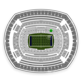 New York Giants at MetLife Stadium Section 117 View