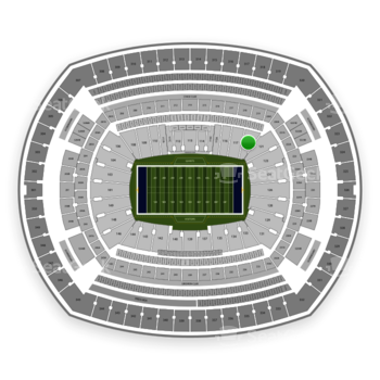 New York Giants at MetLife Stadium Section 118 View
