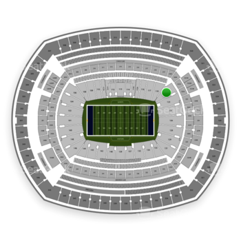New York Giants at MetLife Stadium Section 121 View