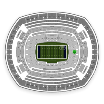 New York Giants at MetLife Stadium Section 126 View