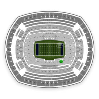 New York Giants at MetLife Stadium Section 134 View