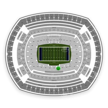 New York Giants at MetLife Stadium Section 137 View