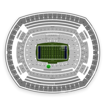 New York Giants at MetLife Stadium Section 140 View