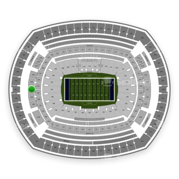 New York Giants at MetLife Stadium Section 201 View
