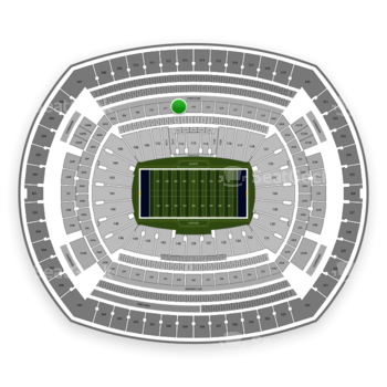 New York Giants at MetLife Stadium Section 212 View
