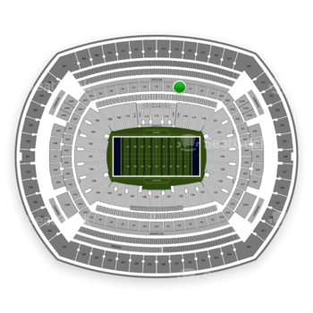 New York Giants at MetLife Stadium Section 216 View