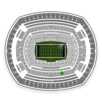New York Giants at MetLife Stadium Section 235 View