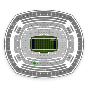 New York Giants at MetLife Stadium Section 242 View