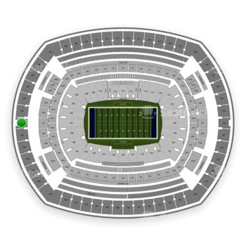 New York Giants at MetLife Stadium Section 301 View