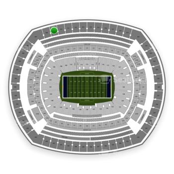New York Giants at MetLife Stadium Section 309 View