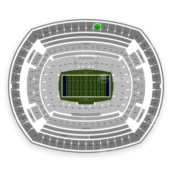 New York Giants at MetLife Stadium Section 315 View