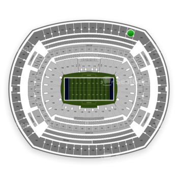New York Giants at MetLife Stadium Section 319 View