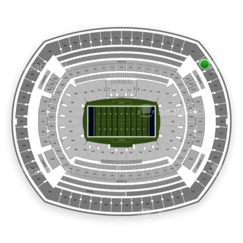 New York Giants at MetLife Stadium Section 321 View