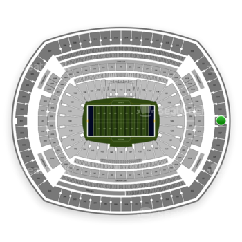 New York Giants at MetLife Stadium Section 326 View
