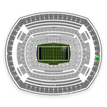 New York Giants at MetLife Stadium Section 327 View