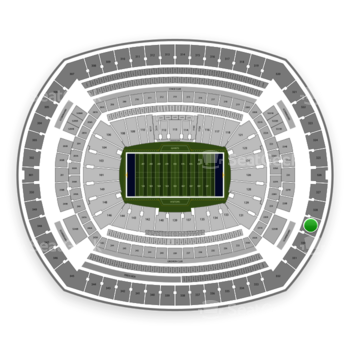New York Giants at MetLife Stadium Section 329 View