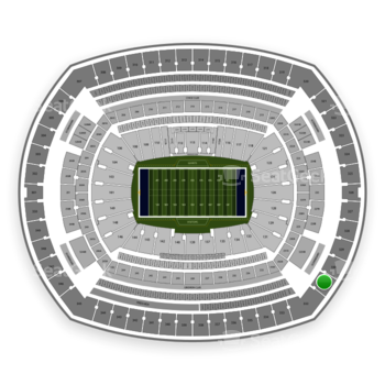 New York Giants at MetLife Stadium Section 331 View