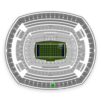 New York Giants at MetLife Stadium Section 338 View