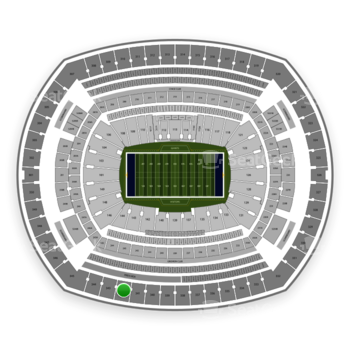 New York Giants at MetLife Stadium Section 342 View