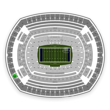 New York Giants at MetLife Stadium Section 347 View