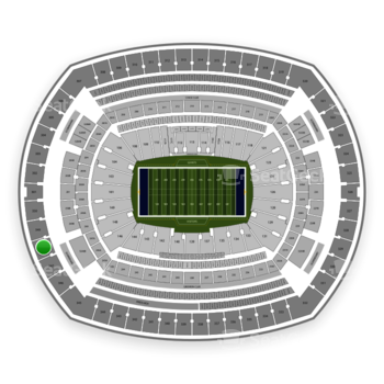 New York Giants at MetLife Stadium Section 348 View