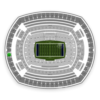 New York Giants at MetLife Stadium Section 350 View