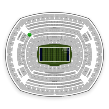 New York Giants at MetLife Stadium Section 207 A View
