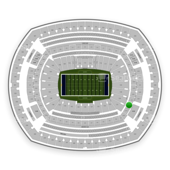 New York Giants at MetLife Stadium Section 230 A View