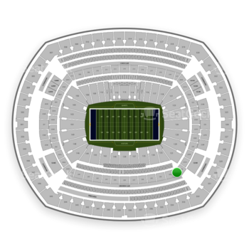 New York Giants at MetLife Stadium Section 232 C View