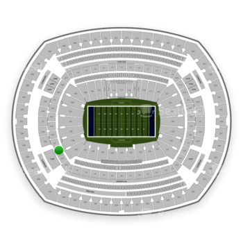 New York Giants at MetLife Stadium Section 247 A View