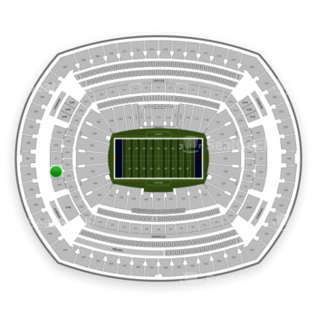 New York Giants at MetLife Stadium Section 250 B View