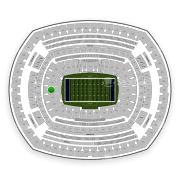 New York Giants at MetLife Stadium Section 101 View