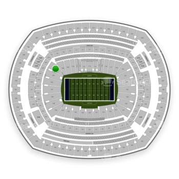 New York Giants at MetLife Stadium Section 106 View
