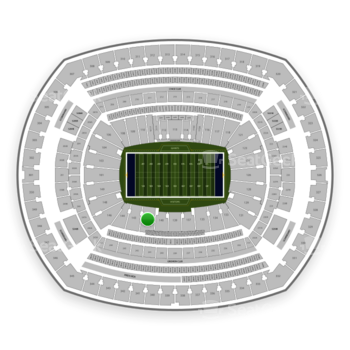 New York Giants at MetLife Stadium Section 142 View