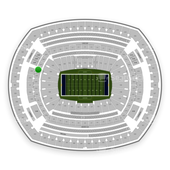 New York Giants at MetLife Stadium Section 204 View