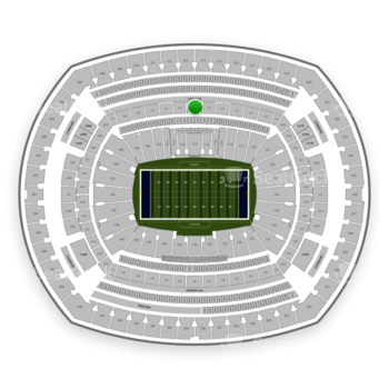 New York Giants at MetLife Stadium Section 213 View