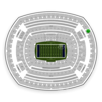 New York Giants at MetLife Stadium Section 322 View