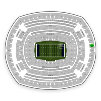New York Giants at MetLife Stadium Section 325 View