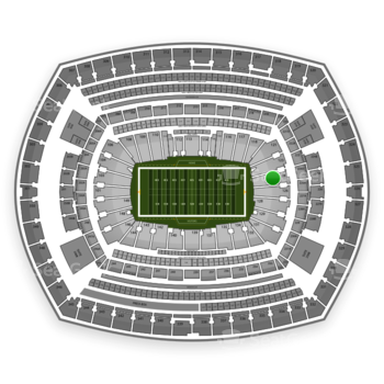 New York Giants at MetLife Stadium Section 124 View