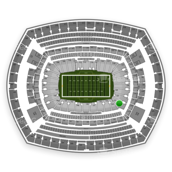 New York Giants at MetLife Stadium Section 131 View