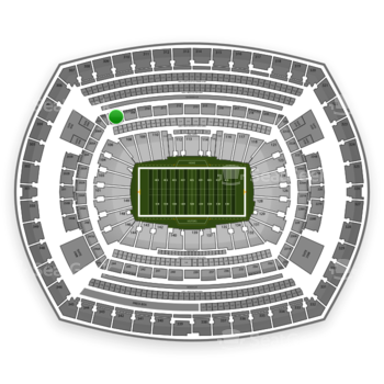 New York Giants at MetLife Stadium Section 208 View